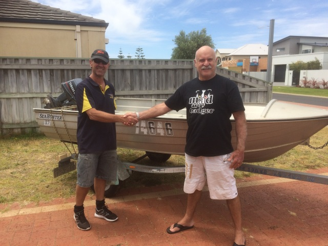 Dave Chapman donating the dinghy to the club - 21st Novemebr 2016